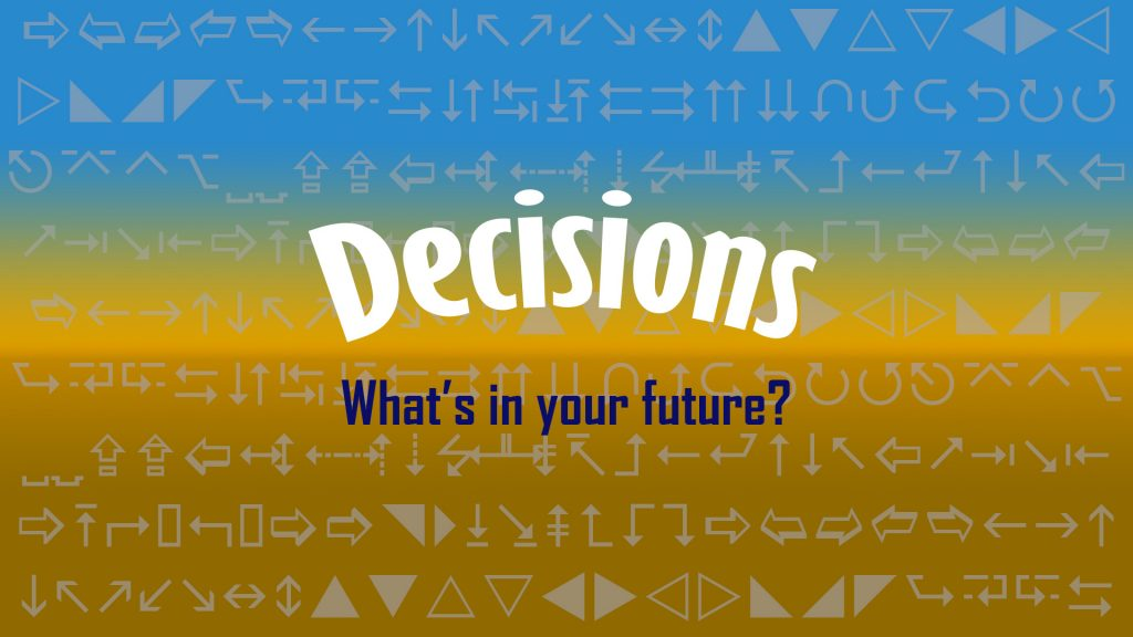 decisions whats in your future wording display