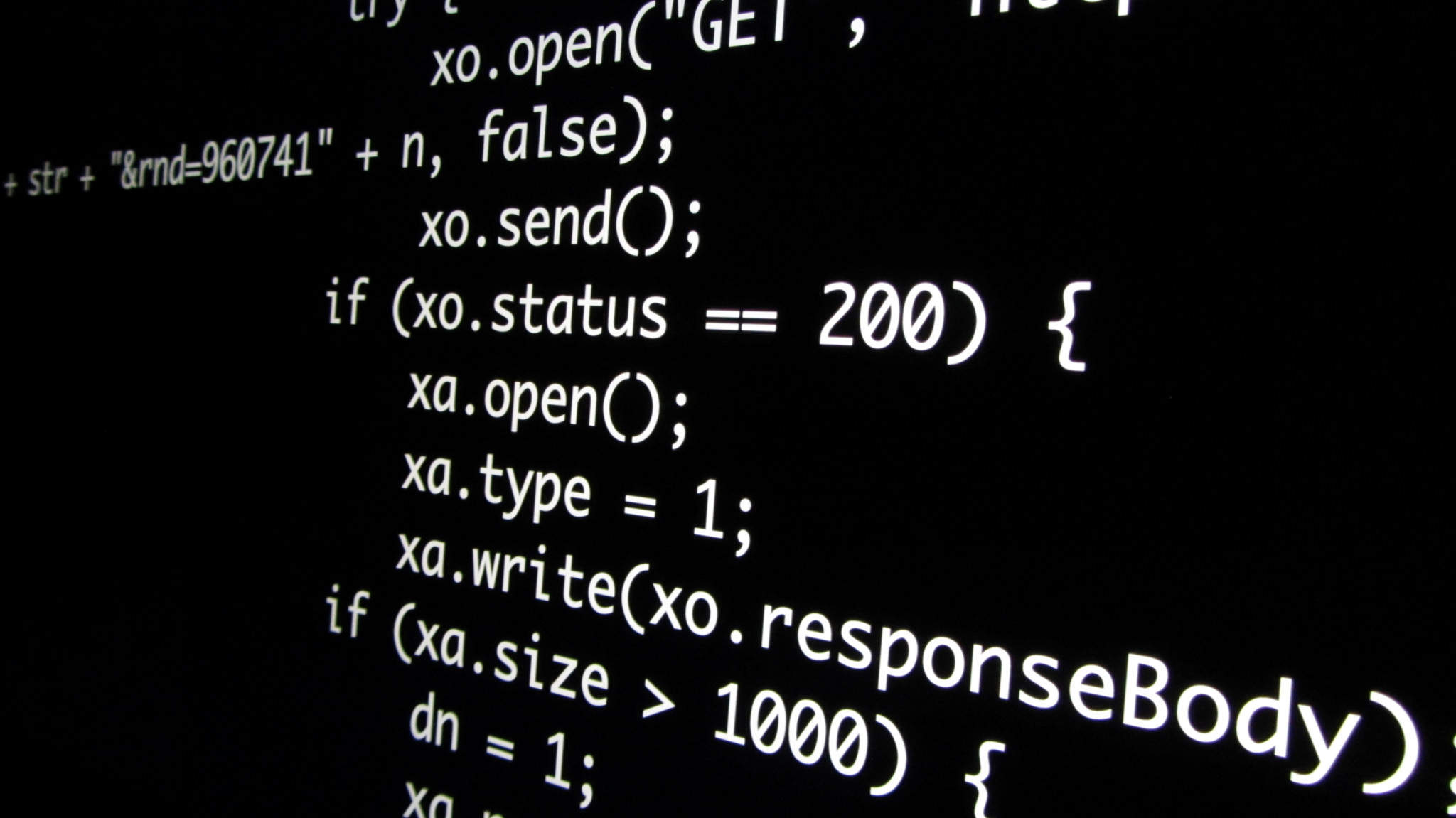 image of javascript coding on a screen