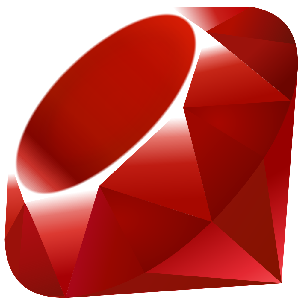 a red clip art ruby for the ruby programming company logo